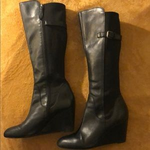 Boots knee-high black Franco Sarto Size 11